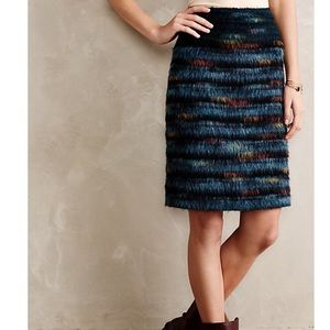 Anthro Maeve Feathered Wool Pencil Skirt- 2